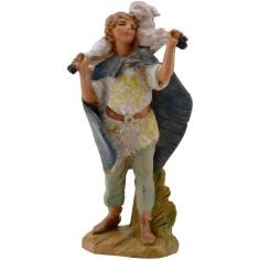 Pastore con pecora in spalla 9,5 cm Fontanini Mondo Presepi