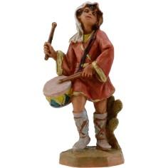 Giovane suonatore con tamburo serie 9,5 cm Fontanini Mondo