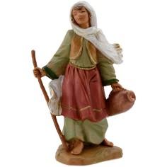 Donna con bastone e anfora 12 cm Fontanini