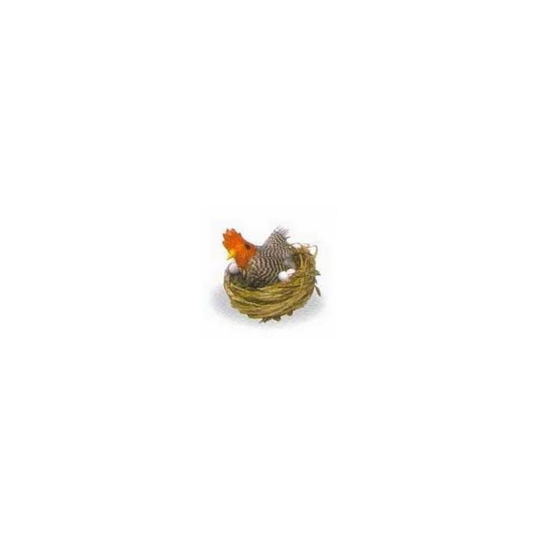 Nido con gallina e uova-249 Mondo Presepi