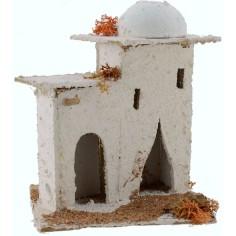 Casa Araba con cupola e porte ad arco 14x14x17,5 h. presepe