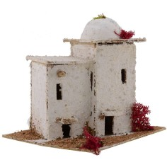 Arab House for presepe with dome cm 16,5x14x15 h.