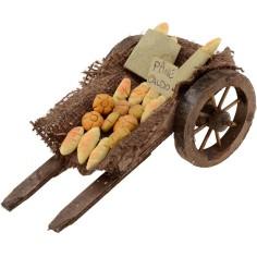Wagon with bread cm 13x7x6 h.