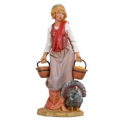 Peasant with turkey 30 cm Fontanini