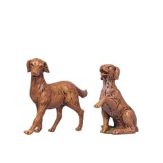 Set two dogs for presepe series 30 cm Fontanini