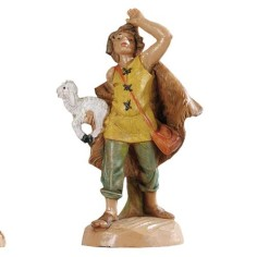 Pastore con pecora 6,5 cm Fontanini Mondo Presepi