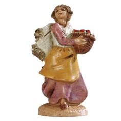 Donna con cesto 6,5 cm Fontanini Mondo Presepi