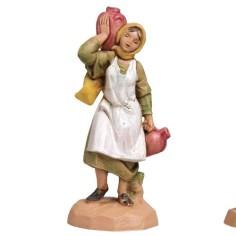 Donna con anfore 6,5 cm Fontanini Mondo Presepi