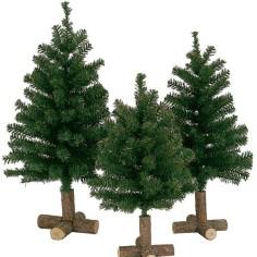Albero di Natale 60 cm con base in legno