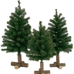 Christmas tree 60 cm with wooden base