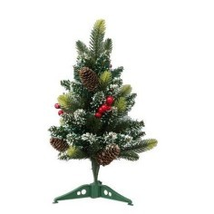 Christmas tree grafted 40 cm with red berries and pigne