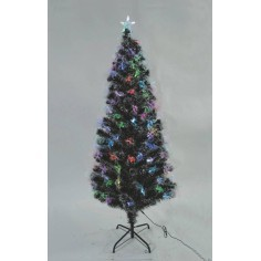 Christmas tree grafted 60 cm with colored otic fibers and star