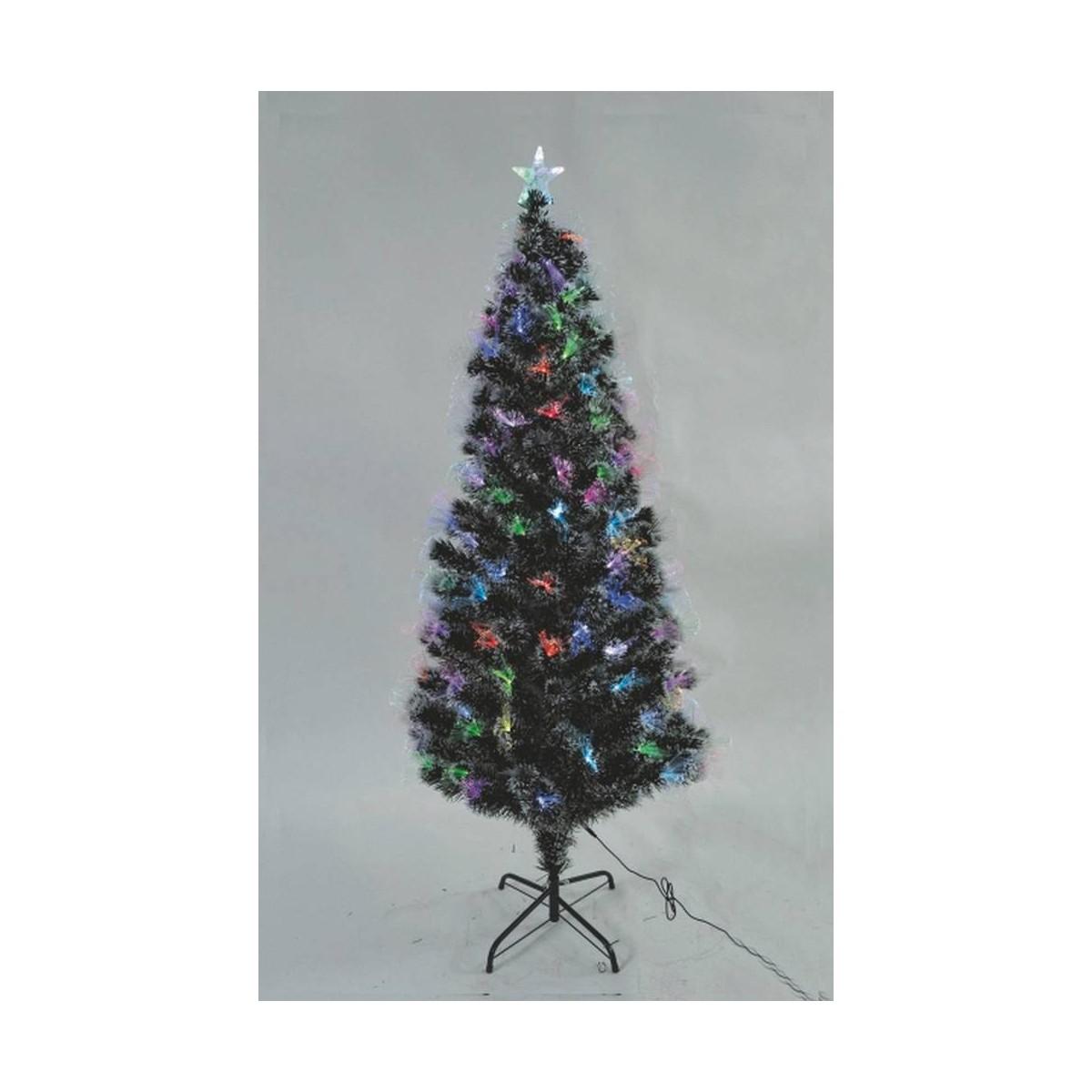 Albero Di Natale 120 Cm.Albero Di Natale Innevato 120 Cm Con Fibre