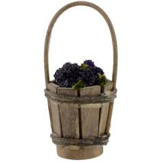 Secchio in legno con uva nera ø 3,5 cm