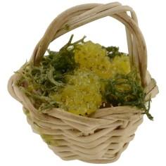Cesto in vimini ø 2.5 cm with white grapes-presepe minuterie