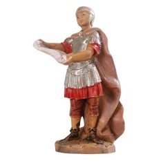 Soldier with parchment 6.5 cm Fontanini