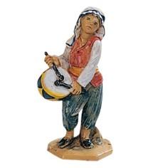 Giovane che suona il tamburo 6,5 cm Fontanini Mondo Presepi