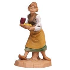 Woman with tray cm 6.5 Fontanini