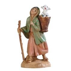 Girl with lamb in gerla 6.5 cm Fontanini