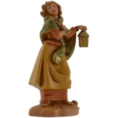 Donna con lanterna 12 cm Fontanini