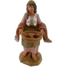 Donna con vassoio 12 cm Fontanini