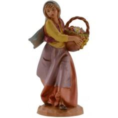 Donna con cesto 12 cm Fontanini
