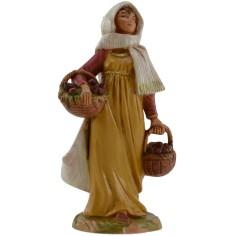Donna orientale con cesti 12 cm Fontanini