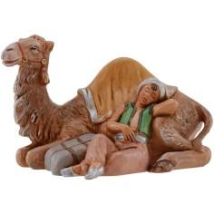 Dromedario con cammelliere dormiente serie 12 cm Fontanini
