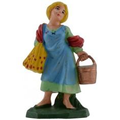 Donna con secchio 6 cm in pvc