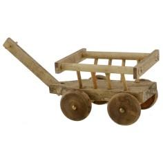 Carretto in legno 5,5x4,2x3,6 h.