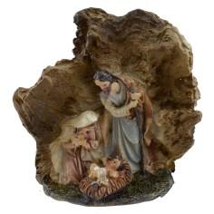 Natività in resina nella grotta cm 4,5