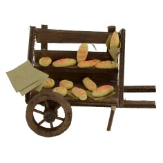 Cart for nativity scene with bread 10x7,5x8 h.