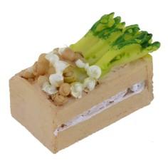 Cassetta in resina con verdura cm 3x2x2 h.