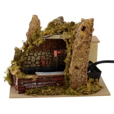 Cork fountain with two functioning taps 20x14.5x15.5 cm