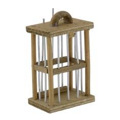 Bird cage 3.7x2.4x7 cm h.
