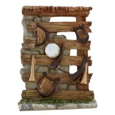 Bottega in resina con strumenti musicali cm 11x4x14,5 h.