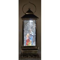 Lanterna con Natività cm 10,5x10,5x28 h.
