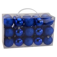 Set 30 palline blu ø 5 cm per albero di Natale
