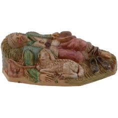 Dormiente con pecora serie 12 cm lux