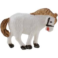 Cavallo bianco per presepe serie 3,5 cm