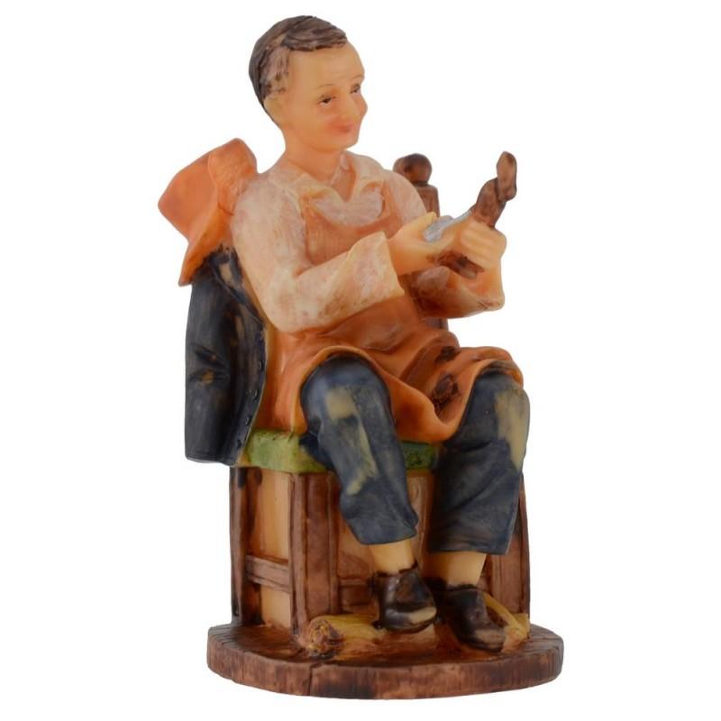 Falegname seduto in resina serie 12 cm