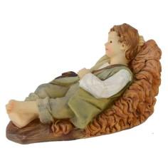 Bambino sdraiato in resina serie 15 cm