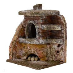 Angular oven for presepe cm 7x6x8, 5 h. for statues 6 cm