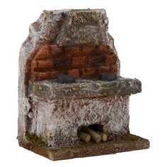 Kitchen with cappa for presepe cm 6x4x7, 5 h. for statues 6 cm