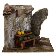 Bench for fruitiness with rotating cm 11,5x9x10 h. for statues