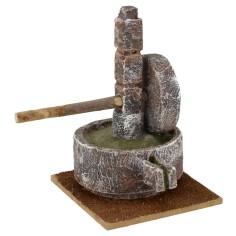 Macina in pietra per presepe cm 10x9x14 h. per statue 10 cm