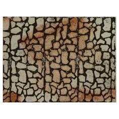 Pannello colorato in sughero a pietre grandi cm 33x25x1