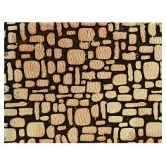 Pannello colorato in sughero a pietre sfalsate cm 33x25x1