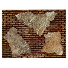 Colored panel in brick cork with intonaco cm 33x25x1