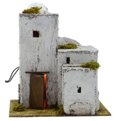 Arab house illuminated cm 25x17, 5x28 h for presepe